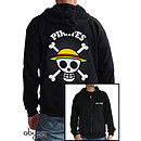 """Abystyle Sweat Shirt à Capuche """"Skull with map"""" Taille XL"""