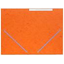 Chemise à élastiques 3 rabats en carte 375g Orange