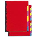 Intercalaires carte lustrée Format A4+ 6 positions