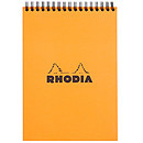 Rhodia Bloc Notepad Orange Spirale 14.8 x 21 cm quadrillé 5 x 5 160 pages
