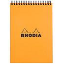 Rhodia Bloc Notepad Orange Spirale 14.8 x 21 cm quadrillé 5 x 5 160 pages