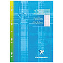 Clairefontaine Copies simples perforées 200 pages 21 x 29.7 cm grands carreaux Seyes