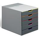 DURABLE Module de classement Varicolor 5 tiroirs 7605-27