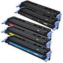 Multipack toners compatibles HP/Canon Q6000A (cyan, magenta, jaune et noir)