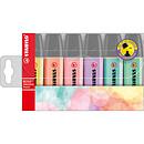 STABILO Boss Original Pastel pochette de 6 surligneurs assortis