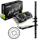 MSI GeForce GTX 1070 ARMOR 8G OC + TILTeek FixCard