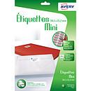 Avery Mini-étiquettes autocollantes 38.1 x 21.2 mm x 780