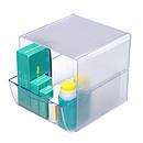 deflecto Cube 1 tiroir Cristal (350801)