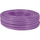 RJ45 Cable S/FTP de un solo hilo, categoría 7, rollo de 100 m (púrpura) - Certificado RPC