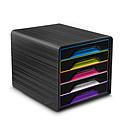 CEP Smoove Bloc de classement 5 tiroirs Noir/Multicolore Sobre