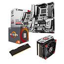 Kit Upgrade PC AMD Ryzen 5 1600 MSI X370 XPOWER GAMING TITANIUM 4 Go