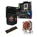 Kit Upgrade PC AMD Ryzen Threadripper 1900X MSI X399 SLI PLUS 32 Go