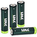 LDLC+ NiMH AA  - 4 piles rechargeables AA (HR6) 2000 mAh
