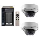 QNAP TS-253A-4G + 2x Hikvision DS-2CD2720F-IZ