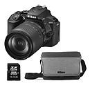 Nikon D5600 + AF-S DX NIKKOR 18-105mm ED VR + Fourre-tout + Carte SDHC 16 Go