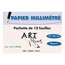 Art Plus Pochette Papier millimétré 90g A4