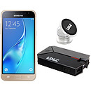 Samsung Galaxy J3 2016 Or + LDLC Power Bank QS10K + Auto S1