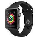 Apple Watch Series 3 GPS Aluminium Gris Sidéral Sport Noir 38 mm