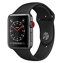 Apple Watch Series 3 GPS + Cellular Aluminium Gris Sidéral Sport Noir 38 mm