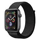 Apple Watch Series 4 GPS Aluminium Gris Sidéral Boucle Sport Noir 44 mm