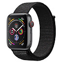 Apple Watch Series 4 GPS + Cellular Aluminium Gris Boucle Sport Noir 40 mm