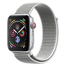 Apple Watch Series 4 GPS + Cellular Aluminium Argent Boucle Sport Coquillage 40 mm