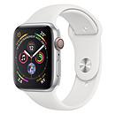 Apple Watch Series 4 GPS + Cellular Aluminium Argent Sport Blanc 40 mm