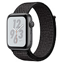Apple Watch Nike+ Series 4 GPS Aluminium Gris Boucle Sport Noir 44 mm