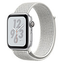 Apple Watch Nike+ Series 4 GPS Aluminium Argent Boucle Sport Blanc 44 mm