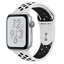 Apple Watch Nike+ Series 4 GPS Aluminium Argent Sport Platine pur/Noir 44 mm