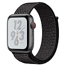 Apple Watch Nike+ Series 4 GPS + Cellular Aluminium Gris Boucle Sport Noir 44 mm