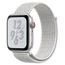 Apple Watch Nike+ Series 4 GPS + Cellular Aluminium Argent Boucle Sport Blanc 44 mm