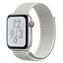 Apple Watch Nike+ Series 4 GPS + Cellular Aluminium Argent Boucle Sport Blanc 40 mm
