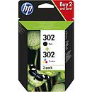HP 302 Combo Noir/3 couleurs (X4D37AE)