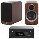 Denon CEOL N10 Noir - Sans HP + Q Acoustics 3010i Noyer