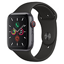Apple Watch Series 5 GPS + Cellular Aluminium Gris Sidéral Bracelet Sport Noir 44 mm