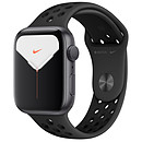Apple Watch Series 5 Nike GPS Aluminium Gris Sidéral Bracelet Sport Noir 44 mm
