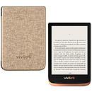 Vivlio Touch HD Plus Cuivre/Noir + Pack d'eBooks OFFERT + Housse Chinée Dorée