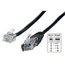 Cable adaptador RJ11 macho / RJ45 macho (5 metros)