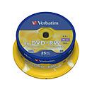 Verbatim DVD+RW 4.7 Go certifié 4x (pack de 25, spindle)