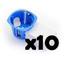BLM Lot De 10 Boites D'encastrement Avec Poche Micromodule BLM_LOT10_I685500