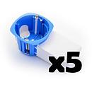 BLM Lot De 5 Boites D'encastrement Avec Poche Micromodule BLM_LOT5_I685500