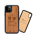 Woodstache Coque en bois Time is Now   iPhone X/XS | Made in France