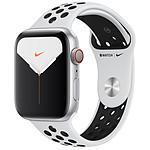 Apple Watch Series 5 Nike GPS + Cellular Aluminio Plato Pulsera deportiva Pura/Negra 44 mm