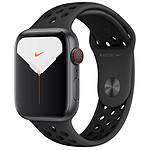 Apple Watch Series 5 Nike GPS + Cellular Aluminio Gris Pulsera deportiva Negra 44 mm