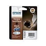 Epson cartouche T0321 (Noir) - Pack de 2