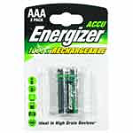 Energizer 2 piles rechargeables HR3 AAA 1000 mAh FSB4