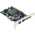 Carte contrôleur PCI avec 3 ports USB 2.0 et 3 ports FireWire 400
