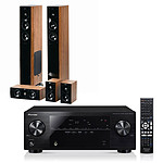 Pioneer VSX-421 Noir + Jamo S 606 HCS 3 Dark Apple