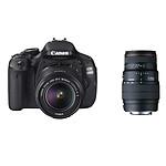 Canon EOS 600D + Objectif EF-S 18-55 mm f/3,5-5,6 IS II + SIGMA 70-300mm F4-5,6 DG Macro